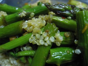 Aparagus and Quinoa Stirfry